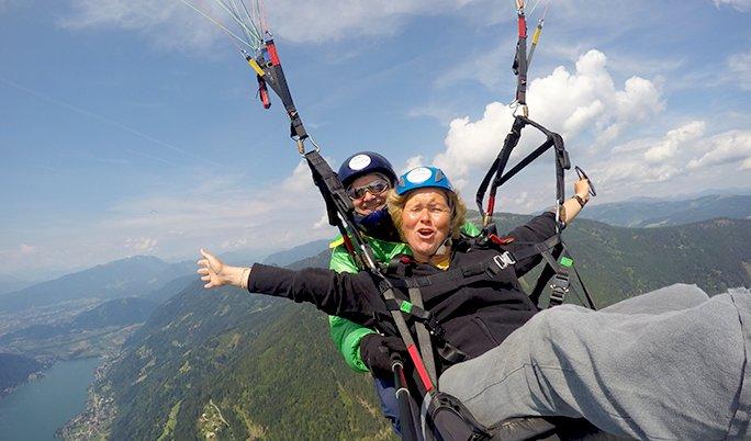 Gleitschirm Tandem fliegen in Österreich