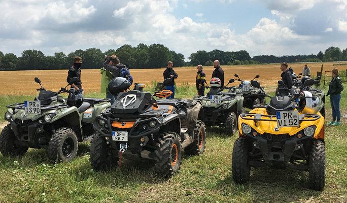 Quad Tour im Gelände bei Groß Pankow