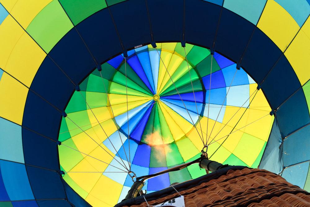 Ballonfahrt mit blauem Himmel in Prenzlau